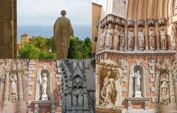 Sculptures Of The Apostles In The Spanish Cathedrals Stock Photography