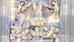 Sculptures archivistiques en cathédrale d'Oaxaca au Mexique banque de vidéos