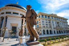 Sculptures on the Art bridge in Skopje Royalty Free Stock Image
