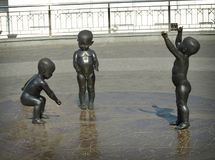 Sculptures of babies. Kiev. royalty free stock photos