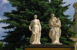 Sculptures baroques des apôtres dans Jaroslaw, Pologne Photographie stock libre de droits