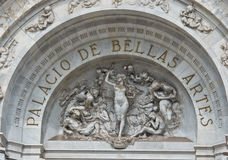 Sculptures on Bellas Artes Palace of fine art, Mexico city, Mexico Stock Photo