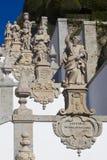 Sculptures in Bom Jesus do Monte, Braga Stock Photo