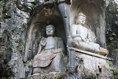 Sculptures of Buddhas Stock Photography