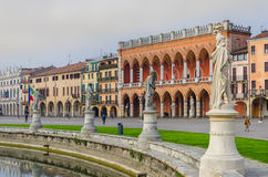 The sculptures and buildings of Prato della Valle, Padova, Italy Stock Photos
