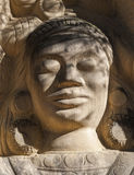 Sculptures carved on sandstones Royalty Free Stock Photos