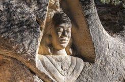Sculptures carved on sandstones Stock Image