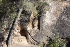 Sculptures carved on sandstones Stock Photos