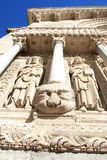 Sculptures of the  cathedral of Arles Royalty Free Stock Image