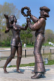 Sculptures of the characters of the Soviet cartoon Royalty Free Stock Images