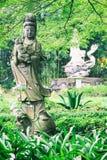 Sculptures of Chinese gods. (Kuan Yin) in the park. Stock Photos