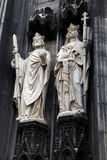 Sculptures of the Cologne Cathedral Stock Photo