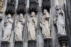 Sculptures of the Cologne Cathedral Royalty Free Stock Photo