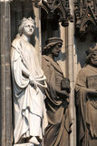 Sculptures of the Cologne Cathedral. Stock Photo