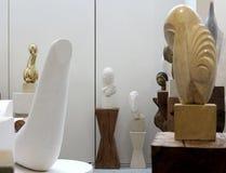 Atelier Brancusi. Sculptures of Constantin Brancusi displayed in Atelier Brancusi at Centre Georges Pompidou in Paris, France royalty free stock photo