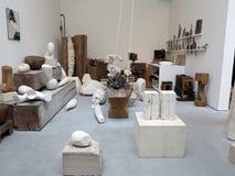 Atelier Brancusi in Paris. Sculptures of Constantin Brancusi displayed in Atelier Brancusi at Centre Georges Pompidou in Paris, France stock photo