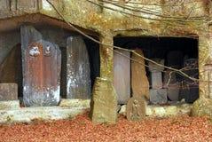 Sculptures dans l'alcôve de roche Photographie stock libre de droits