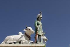 Sculptures dans le temple de Sri Mariamman Images libres de droits