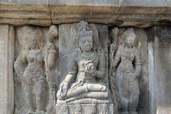Sculptures dans Prambanan Indonésie Photographie stock