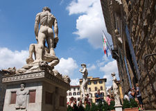 Sculptures of David and Hercules and Cacus, Firenze, Italy Royalty Free Stock Images