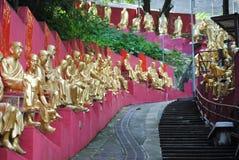 Sculptures de monastère de buddhas de dix-millièmes Photos libres de droits