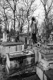 Sculptures de Pere Lachaise Cemetery Paris Images libres de droits