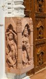 Sculptures de tempel Jain Photo stock