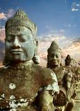 Sculptures of demons of Asia stock photos