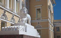 Sculptures des lions Photo libre de droits