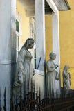 Sculptures Djukanovic  family house, Cetinje Royalty Free Stock Photo