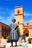 Sculptures of Don Quixote and Dulcinea in El Tobos Royalty Free Stock Images