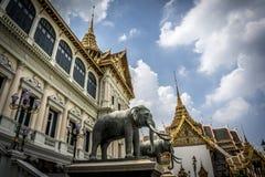 Sculptures en éléphant à Royal Palace thaïlandais Photographie stock libre de droits