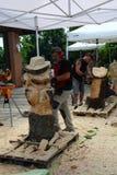 Sculptures en bois vivantes avec le ` Art Settala - MI de Prem - l'Italie Image stock