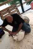 Sculptures en bois vivantes avec le ` Art Settala - MI de Prem - l'Italie Photos stock