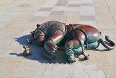 Sculptures en bronze sur le boulevard de Scheveningen Image stock