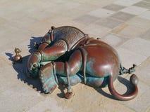 Sculptures en bronze sur le boulevard de Scheveningen Photo stock