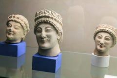 Sculptures en Etruscan dans le musée de Florence Images libres de droits