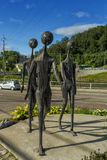 3 sculptures en métal Photos stock