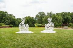 Sculptures en métal Images libres de droits