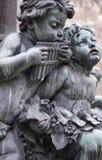 sculptures en musiciens Images libres de droits