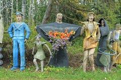 Sculptures en parc de sculpture en Parikkala, Finlande Images libres de droits