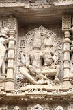 Sculptures en pierre d'Inde médiévale photo stock