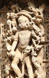 Sculptures en pierre d'Inde médiévale images libres de droits