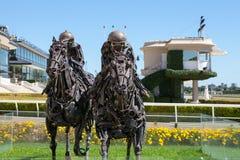 Sculptures en piste de Palerme, Buenos Aires Photos libres de droits