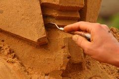 Sculptures en Sandy images libres de droits