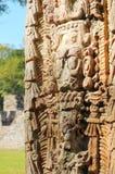 Sculptures en stationnement archéologique dans des ruinas de Copan photo stock