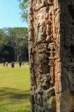 Sculptures en stationnement archéologique dans des ruinas de Copan photographie stock