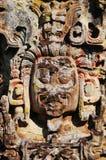 Sculptures en stationnement archéologique dans des ruinas de Copan image stock