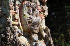 Sculptures en stationnement archéologique dans des ruinas de Copan photographie stock libre de droits