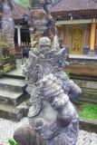 Sculptures en temple de Gunung Kawi de Balinese Photo stock